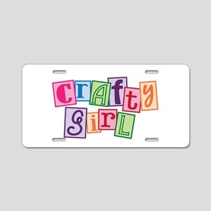 Crafty Girl Aluminum License Plate